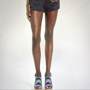 Blank NYC High Rise Distressed Cutoff Denim Shorts